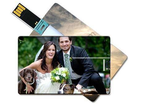 Lote de 100 Memorias 4GB USB Tarjeta Personalizada para Bodas. Pendrives, Tarjetas USB para Recuerdos, Detalles y Regalos Bodas, Comuniones