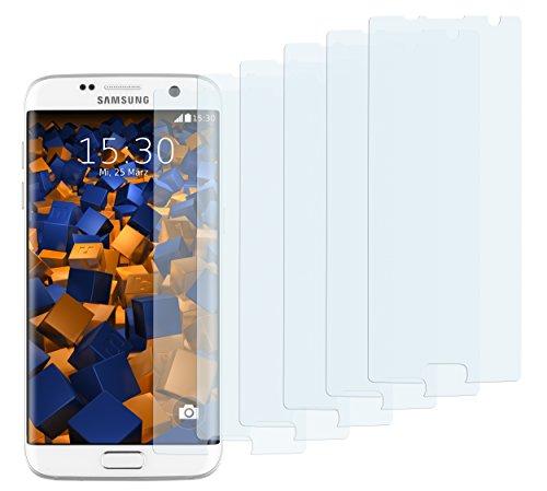 mumbi Schutzfolie kompatibel mit Samsung Galaxy S7 Edge Folie klar, Displayschutzfolie (6X)