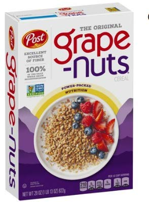 Post GrapeNuts Non GMO Breakfast Cereal 29 oz  Pack of 4