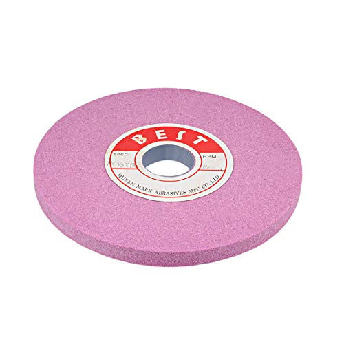 uxcell 7-Inch Bench Grinding Wheels Pink Aluminum Oxide PA 80 Grit for Surface Grinding