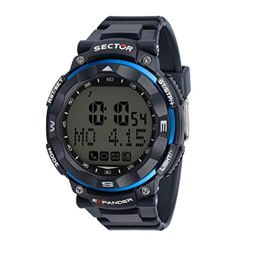 Sector No Limits Herren Digital Analog Quartz Uhr mit Plastic Armband R3251529002