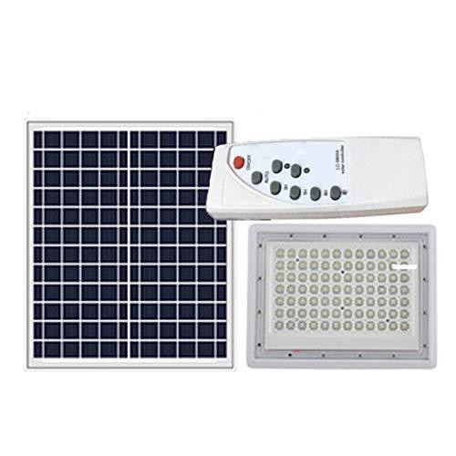 Luces LED LED Luz Solar Exterior con Control Remoto Placa Solar Y Mando Remote Jardín Patio Terraza Camping (Color : 100W)