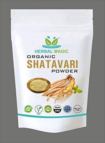 Herbal Magic's Certified Organic Shatavari Root Powder Immunity Digestion with Calcium Vitamin C A Iron