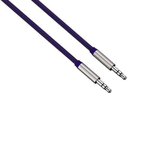 Hama HQ ALU AUX Kabel 3,5mm Klinke-Kabel Color Line Blau Klinken-Stecker Audio Handy MP3 Tablet