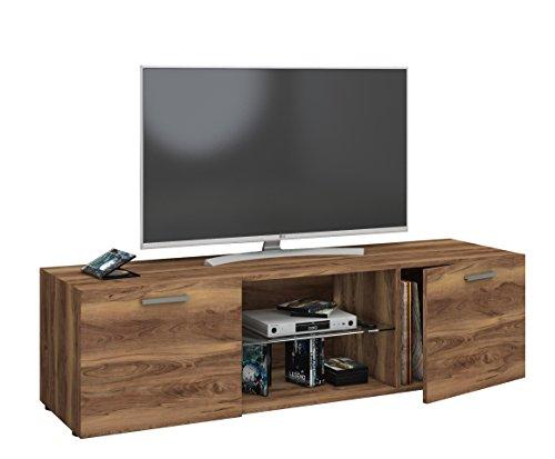 VCM TV Lowboard Fernseh Schrank Möbel Tisch Holz Sideboard Medien Rack Bank Kern-nussbaum 40 x 140 x 36 cm