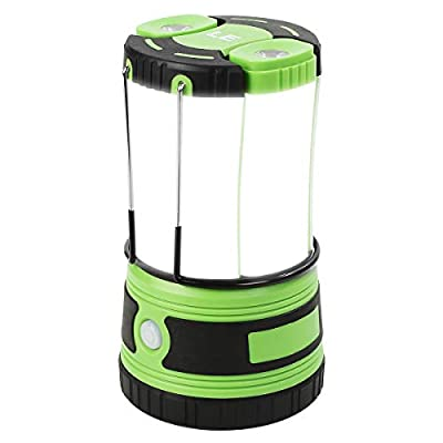Lepro LED Camping Lantern Rechargeable or Battery Powered, 1000lm Camping Light with Detachable Flashlights Combo, 4400mAh, 4 Modes, Portable Outdoor Lantern for Hiking, Hurricane Emergency, Fishing