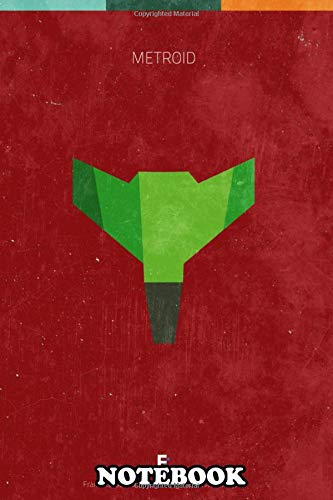 Notebook: Metroid Minimal Videogame Poster , Journal for Writing, College Ruled Size 6