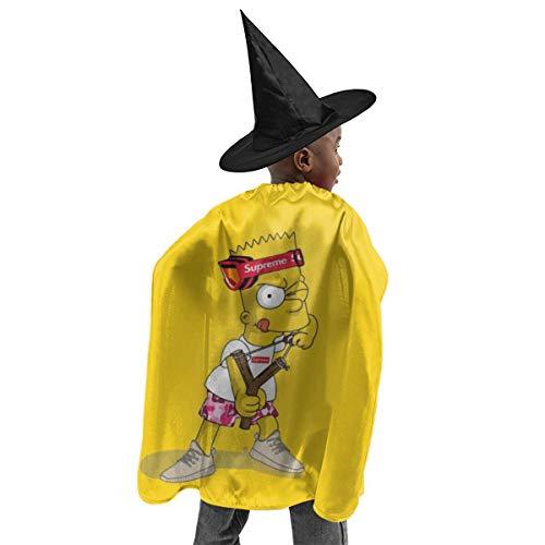 CrazyCoolArt Bart Simpson - Juego de disfraz de bruja para Halloween, disfraz de bruja