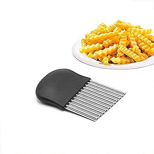 Geschnittenes Kartoffelmesser Wellenförmige Wellen-Fischrogen Französischer Salat-gewölbter Messer-Ausschnitt-Zerhacker Multifunktion