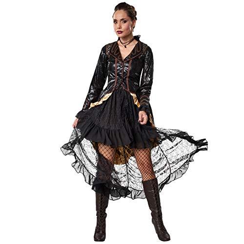 dressforfun 900489 - Costume Donna Adulti Ribelle Steampunk, Abito in Due Pezzi e a Tinte Scure (M   No. 302326)