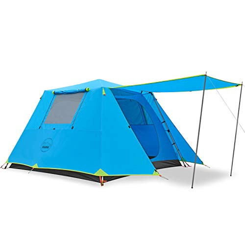 KAZOO Family Camping Tent Large Waterproof Pop Up Tents 4 Person Room Cabin Tent Instant Setup with...