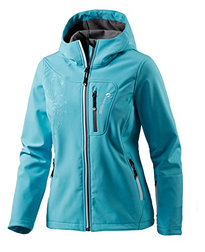 White Season Damen Softshelljacke Jacken, Blau, 36