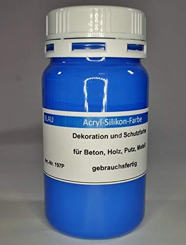 Blau - Acryl-Silikon Betonfarbe 100ml Tester für innen und außen (EUR 3,50/100 ml)