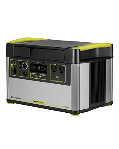 Goal Zero Yeti 1500X Portable Power Station 1516Wh Portable Lithium Battery Emergency Power Station, Outdoor Solar Generator, 120V AC Pure Sine Wave Inverter, 12V Car Port, 6mm, USB C PD, USB A Port