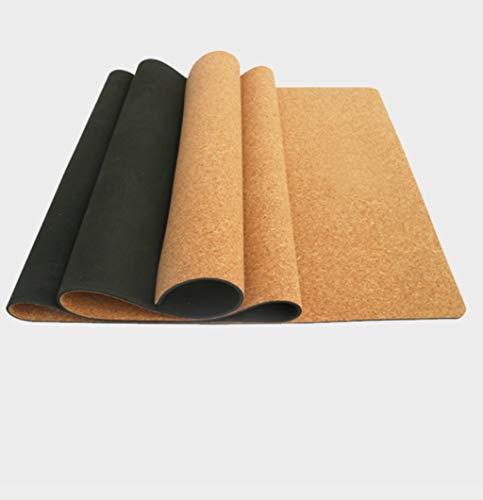 Outdoor sport houlian winkel Natuurlijke Rubber Kurk Hout Graan Yoga Mat afdrukken Antislip Mat Kleur afdrukken Kurk Fitness Mat