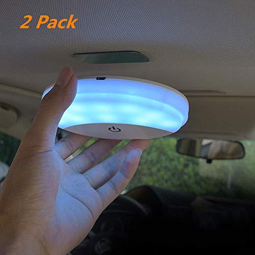 Deckenleuchten LED Berührungssteuerung Magnetische Installation 2 Lichtfarben USB Aufladbar Universal Innenlampen für Auto Camping Anhänger Wohnmobil LKW Kofferraum Abstellraum Schrank usw. (2Pcs)