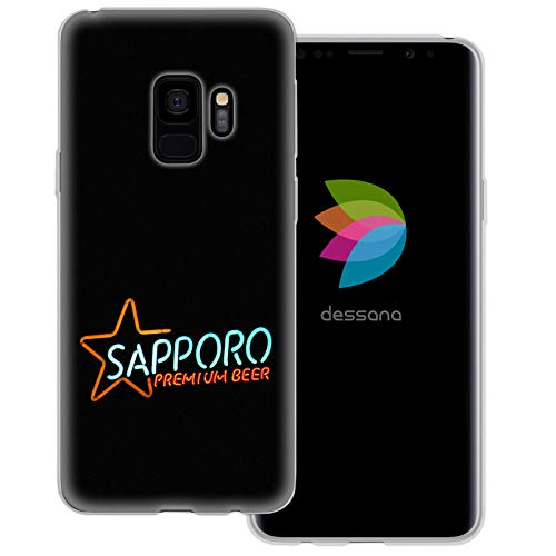dessana Japan Sightseeing transparante beschermhoes mobiele telefoon case cover tas voor Samsung Galaxy S Note, Samsung Galaxy S9, Sapporo Bier