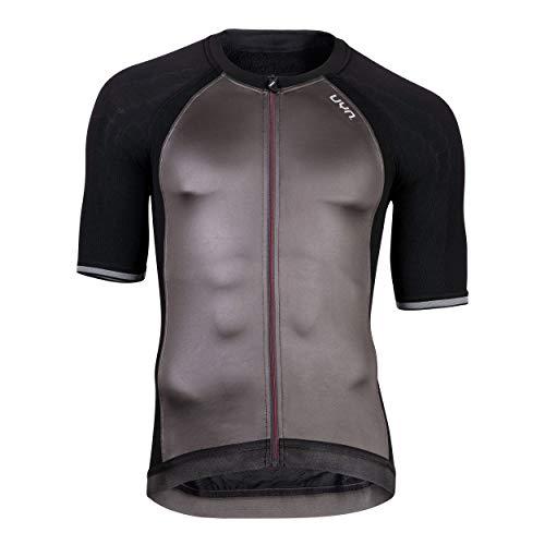 UYN Activyon Maglia Ciclismo da Uomo A Manica Corta, Blackboard/Anthracite/Grey, XL