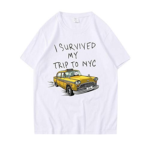 Honghuang Tom Holland Stesso Stile T-Shirt I Survived My Trip Print TopCasual Cotton Streetwear Uomo Donna Maglietta Unisex
