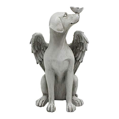 FLAMEER Hermosas Figuras Tribales africanas para Mujeres artesanía hogar estantería de Mesa Resina Estatua Escultura Ornamentos Arte Abstracto coleccionables (Perro ángel)