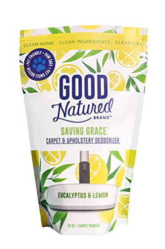 Good Natured Brand Saving Grace Carpet & Upholstery Deodorizer, Eucalyptus & Lemon - 32oz - All-Natural and Eco-Friendly, Safe for Families and Pet