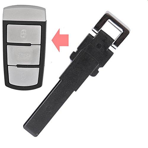 1x Notschlüssel Smartkey Kunststoff Rohling für Auto Schlüssel Funk Fernbedienung kompatibel mit VW Passat