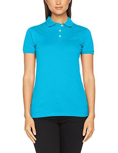 Clique Damen Premium Polo Shirt Polohemd, türkis, M