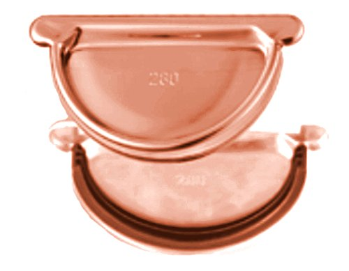 Steckboden universal mit Gummidichtung Kupfer für Dachrinnen in den Größen 250, 285 und 333 (333-er)