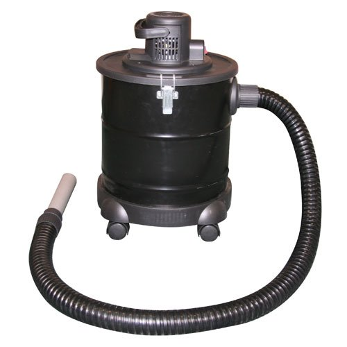 Kamino-Flam 337106 Aschesauger mit Motor, ca. 20 Liter Kessel, 170 cm Schlauch, auf Rollen