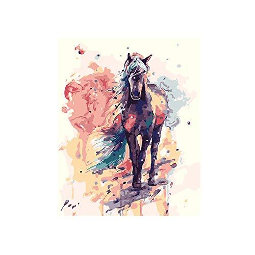 DIY Schilderen op nummer kinderen schilderen kitGeschilderd paard handgeschilderd frameloos schilderij 40x50CM