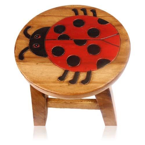 Brink Holzspielzeug Kinder-Hocker Schemel Marienkäfer Kinderzimmer Holz Wood Geschenk Stabil Tisch Sitzgruppe