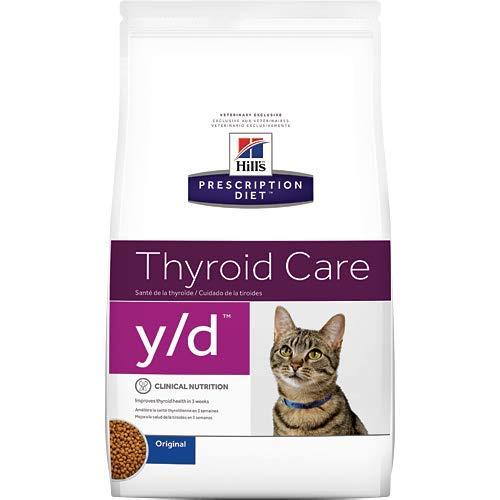 Hill's Prescription Diet y/d Thyroid Care Dry Cat Food, 4 lb bag