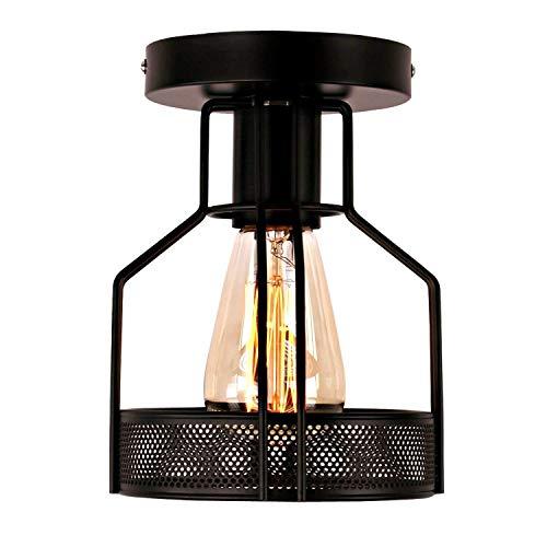GPZ-iluminación de techo Luz de techo, luz de techo LED Semi-incrustada Luz de techo, Nordic Moderno Minimalista Personalidad Sala de estar Pasillo Pasillo Porche Balcón Lámpara de techo de hierro for