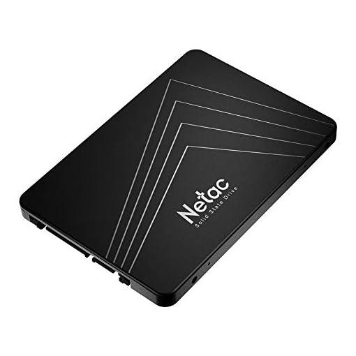 """Netac SSD 128GB, Disco Duro Estado sólido Interna, 3D NAND Flash Unidad, 2.5"""" SATAIII 6Gb/s, hasta 510MB / s con caché SLC para Notebook, Tableta, computadora de Escritorio y PC 2"""