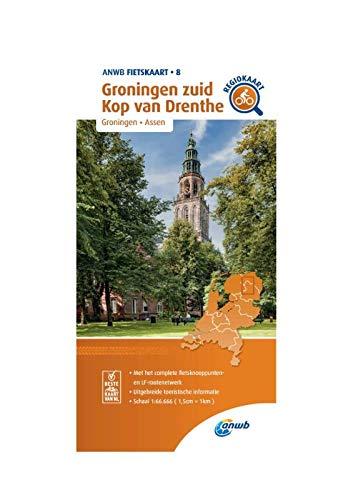 Fietskaart Groningen zuid, Kop van Drenthe 1:66.666: Groningen, Assen