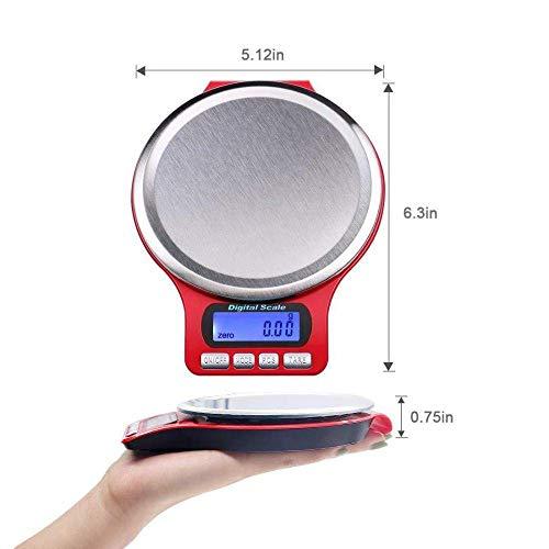 Keuken Thuis Multifunctionele Digitale Zakweegschaal Precisie Huishoudelijke Keuken Elektronische Weegschaal 3Kg 0.1G Roestvrijstalen Keukenweegschaal Voedsel Bakken Elektronische Gram Weegschaal met Pan -3_Kg_/0.1G