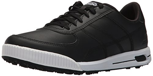 Skechers 2018 Mens GO Golf Drive Classic Spikeless Street Golf Shoes 54530 Black/White 7.5UK