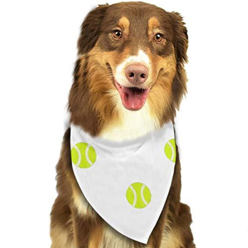Jxrodekz Tennis Ball Dot Verstellbarer personalisierter niedlicher Haustier-Bandanas-Schal