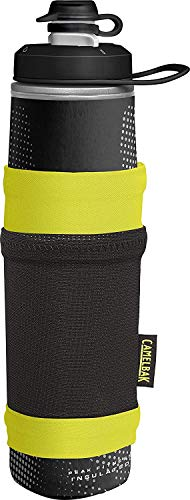 Camelbak - Borraccia unisex per adulti Peak Fitness Chill, nero/lime, bianco/argento