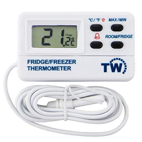 Digital Gefrierschrank oder Kühlschrank Thermometer mit Alarm-Funktion und max/min Funktion 1,2m Kabel