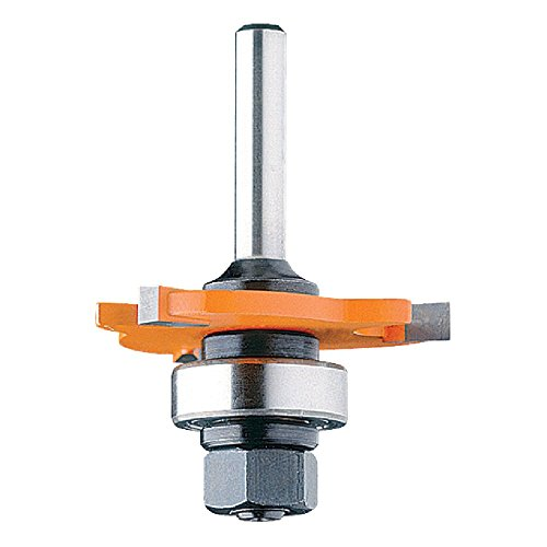 CMT 822.320.11A 3-Wing Slot Cutter with Bearing and Arbor, 5/64-Inch Cutting Length and 1/4-Inch Shank