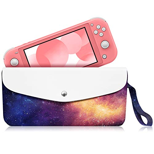 Fintie Carry Case for Nintendo Switch Lite 2019 - Portable Travel Bag Protective Sleeve Pouch w/ Side Pocket, Game Card Slots, Holding Strap for Nintendo Switch Lite and Accessories, Galaxy