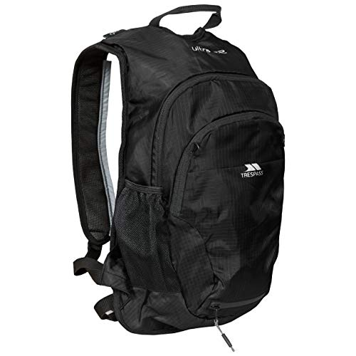 Trespass Ultra 22 Running Cycling Backpack with Hydration Access, 22 Litre, Black, One Size