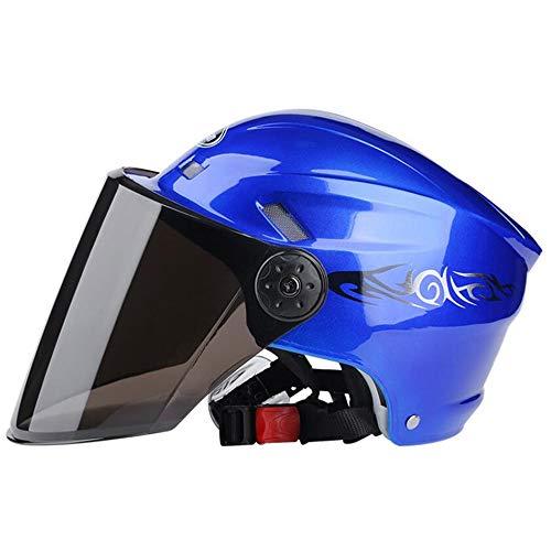 Ecloud Shop® Visor abatible Medio casco modular con protección solar para hombres y mujeres Casco de coche eléctrico, casco de bicicleta