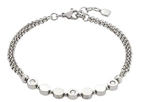 Jewels by Leonardo Damen-Armband Dorelly, Edelstahl mit facettierten Kristallsteinchen, mit Karabinerverschluss, Länge 175 mm, 016787
