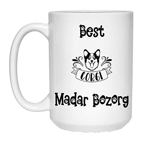 N\A Best Corgi Madar Bozorg Taza de café - Taza de cerámica Blanca de 11 oz con asa