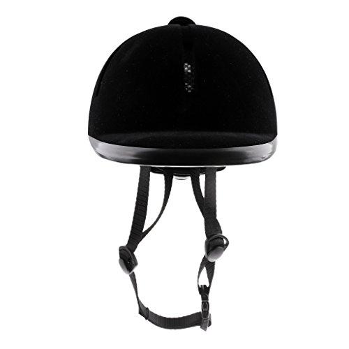 FLAMEER Casco De Montar A Caballo De Los Niños Sombrero De Cabeza De Seguridad Ecuestre Jinete De Terciopelo 48-54cm