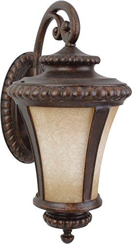 """Craftmade Z1224-PRO Prescott Antique Outdoor Wall Mount Sconce Lighting, 1-Light 100 Watt (12""""W x 24""""H), Peruvian Bronze"""