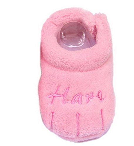 Bigood Chaussure Enfant Bébé Corail Brodé Chaussures Souples Cadeau Nouveau-né Rose