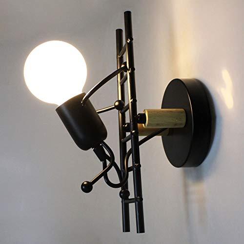 Creativa Lámpara de Pared Industrial Vintage Hierro Retro Aplique Moderna Interior Forma...